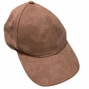 H&M Tan Faux Suede Cap Hat Baseball Hat